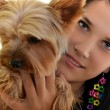 Girl with a dog - 