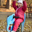 Baby in an autumn park — Stock Photo #7521702