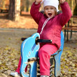 Baby in an autumn park — Stock Photo #7521711
