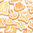 Gingerbread christmas cookies - 图库照片
