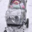 Baby carriage. winter - Stock Photo