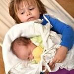 Two sister sleep in hammock — Stock Photo #7688439