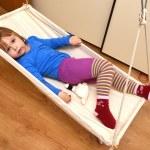 Baby sleep in hammock — Stock Photo