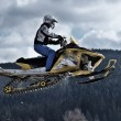Snowmobile racing — Stock Photo
