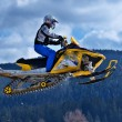 Snowmobile racing — Stock Photo #7788467