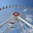 Wiener Riesenrad in Prater - oldest and biggest ferris wheel in Austria. Sy - Stock Photo