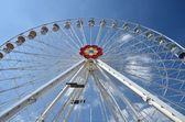 Wiener Riesenrad in Prater - oldest and biggest ferris wheel in Austria. Sy — Stock Photo