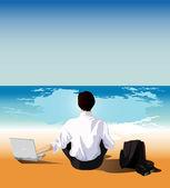Businessman relaxing — Stock Vector
