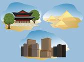 Vetor de ilustração de cidades — Vetorial Stock