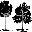 Trees vector — Stock Vector