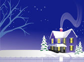Christmas illustration vector — Stock Vector