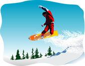 Snowboarder vector — Stock Vector