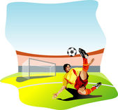 Image of soccer players — Stock Vector