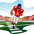 American football player vector — Stock Vector