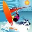 Windsurfer vector — Stock Vector