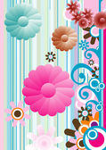 Flowers composition — Stock Vector