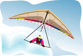 Hang-glider vector — Stockvektor