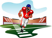 American football player vector — Stock Vector