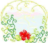 çiçek kompozisyon — Stok Vektör