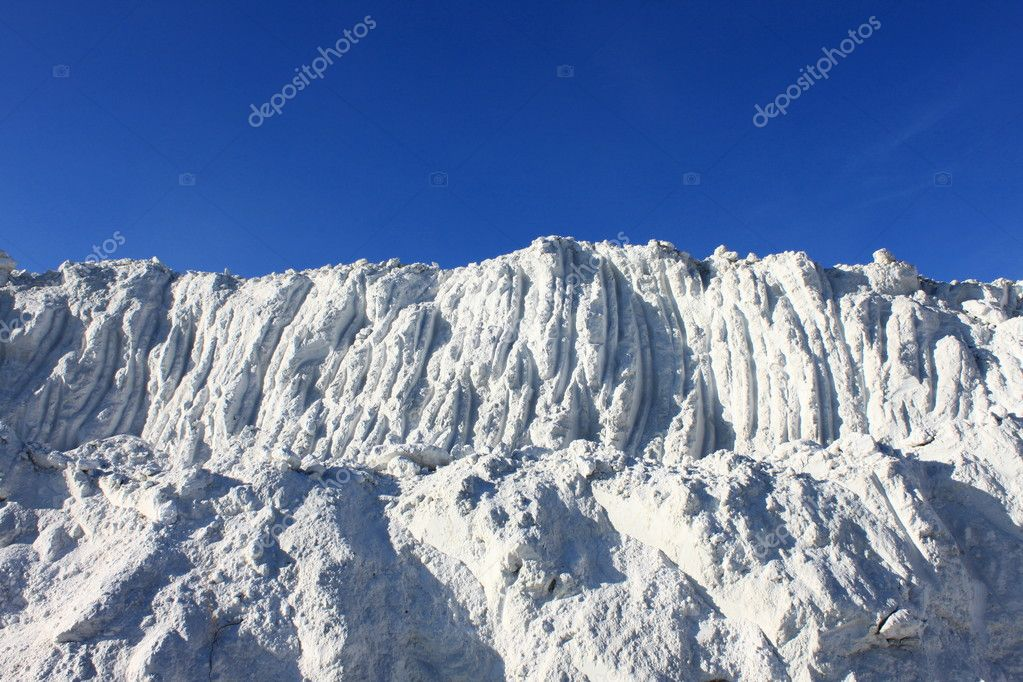 White as snow waste industry against the blue sky — Stock Photo #7571061