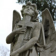 Sculpture of angel with cross — Stock Photo #7685828