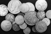 Silver antique coins — Stock Photo