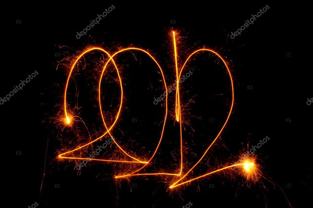 2012 on a black background  Stock Photo #7807420