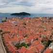 Panorama of the old city of Dubrovnik — Stock Photo