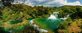 Panorama of waterfalls in Krka National Park, Croatia — Stock Photo