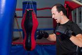 狂热的拳击手 — 图库照片