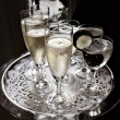 Stock Photo: Party Serving Tray with sparkling champagne