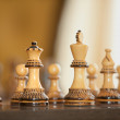 Chess Board Figures - Stock Photo