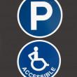 Handicapped Accessible Parking - Stock Photo