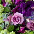 Stock Photo: Purple Flower Bouquet