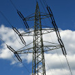 Power Lines Tower - Stock Photo