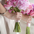 Stock Photo: Bride and Bridesmaids with Bouquets