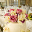 Wedding Cake with Flowers - Stock Photo