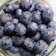 Fresh Blueberries in a Jar - Stock Photo