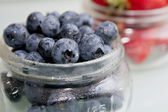 Fresh Blueberries in a Jar — Stock Photo