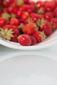 Fresh Strawberries with room for text — Stock Photo