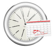 Decision-making clock — Stock Photo
