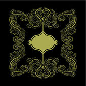 Tarjeta clásica marco negro oro — Vector de stock