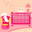 Baby lovely room — Stock Vector #7472177