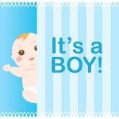 It's a boy baby card — Stock Vector