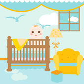 Baby relaxing room — Stock Vector
