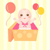 Baby giving a big surprise — Stock Vector