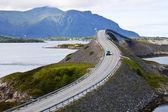 ノルウェーの風景。atlanterhavsvegen — ストック写真