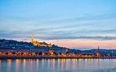 Night panorama of Buda — Stock Photo