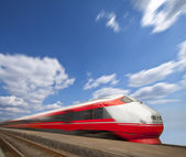 Fast train passing by. Motion blur — Stock Photo
