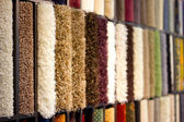 The stand with carpeting — Stock Photo